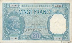 20 Francs BAYARD FRANCE  1916 F.11.01 VF
