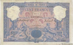 100 Francs BLEU ET ROSE  FRANCE  1908 F.21.23 pr.TB