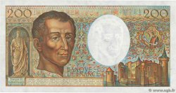 200 Francs MONTESQUIEU alphabet H.402  FRANCE  1986 F.70ter.01a pr.SUP