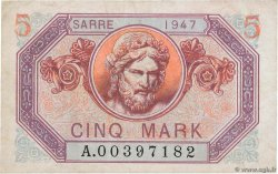 5 Mark SARRE FRANCE  1947 VF.46.01 TTB