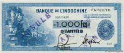 1000 Francs TAHITI  1943 P.18bs SUP