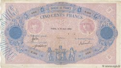 500 Francs BLEU ET ROSE  FRANCE  1909 F.30.17 TB+