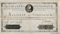 50 Livres FRANCE  1790 Ass.04a TB