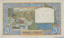 20 Francs TRAVAIL ET SCIENCE FRANCE  1942 F.12.21 TTB