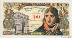 100 NF sur 10000 Francs BONAPARTE FRANCE  1958 F.55.01 XF+