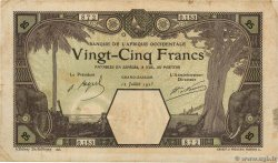 25 Francs GRAND-BASSAM  AFRIQUE OCCIDENTALE FRANÇAISE (1895-1958) Grand-Bassam 1923 P.07Db TB