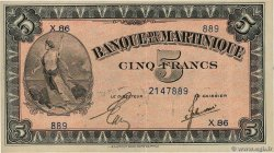 5 Francs  MARTINIQUE  1944 P.16b SUP