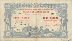 100 Francs NEW CALEDONIA  1914 P.17 VF-