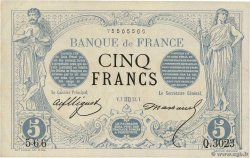 5 Francs NOIR FRANCE  1873 F.01.21 SUP+