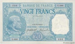 20 Francs BAYARD FRANCE  1916 F.11.01 SUP+
