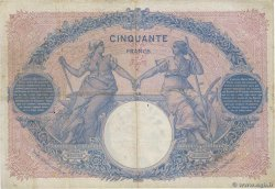 50 Francs BLEU ET ROSE FRANCE  1908 F.14.21 TB