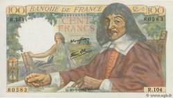 100 Francs DESCARTES FRANCE  1944 F.27.06 SPL+