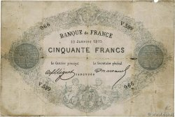 50 Francs type 1868 Indices Noirs Faux FRANCE  1875 F.A38.09 B