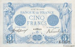 5 Francs BLEU  FRANCE  1916 F.02.42 XF-