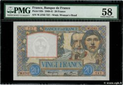 20 Francs TRAVAIL ET SCIENCE  FRANCE  1941 F.12.14 pr.SPL