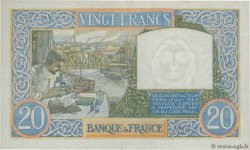 20 Francs TRAVAIL ET SCIENCE FRANCE  1941 F.12.18 TTB+