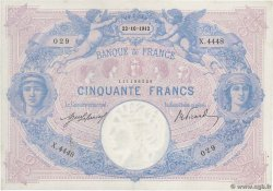 50 Francs BLEU ET ROSE FRANCE  1912 F.14.25 TTB+