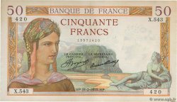 50 Francs CÉRÈS FRANCE  1935 F.17.04 pr.SUP