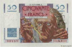 50 Francs LEVERRIER  FRANCE  1946 F.20.01 XF+