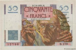 50 Francs LE VERRIER  FRANCE  1951 F.20.18 VF