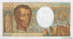 200 Francs MONTESQUIEU  FRANCE  1984 F.70.04 AU