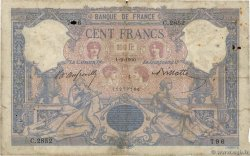 100 Francs BLEU ET ROSE FRANCE  1900 F.21.13 B