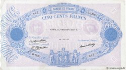 500 Francs BLEU ET ROSE FRANCE  1932 F.30.35 VF