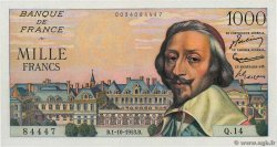 1000 Francs RICHELIEU FRANCE  1953 F.42.03 XF - AU