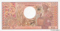 500 Francs CENTRAL AFRICAN REPUBLIC  1981 P.09 UNC-