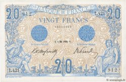 20 Francs BLEU FRANCE  1906 F.10.01 VF