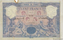 100 Francs BLEU ET ROSE FRANCE  1890 F.21.03 TTB