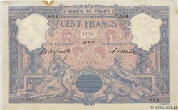 100 Francs BLEU ET ROSE FRANCE  1897 F.21.10 TTB