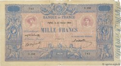 1000 Francs BLEU ET ROSE FRANCE  1893 F.36.05 F-