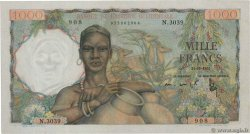 1000 Francs FRENCH WEST AFRICA (1895-1958)  1953 P.42 AU-