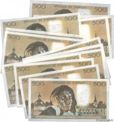 500 Francs PASCAL Lot FRANCE  1983 F.71.28-34 SUP+