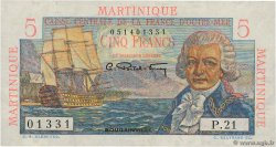 5 Francs Bougainville  MARTINIQUE  1946 P.27 SPL+