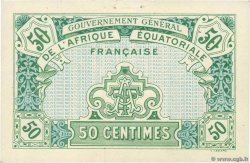 50 Centimes FRENCH EQUATORIAL AFRICA  1917 P.01a XF+