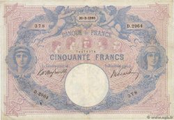 50 Francs BLEU ET ROSE FRANCE  1906 F.14.18 TB+