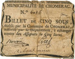 5 Sous  FRANCE regionalism and miscellaneous Chomerac 1792 Kc.07.054