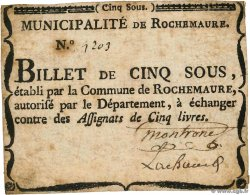 5 Sous  FRANCE regionalism and miscellaneous Rochemaure 1792 Kc.07.101