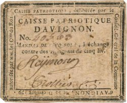 5 Sols  FRANCE regionalism and miscellaneous Avignon 1791 Kc.13.023