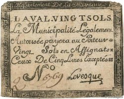 20 Sols  FRANCE regionalism and miscellaneous Laval 1791 Kc.53.007a