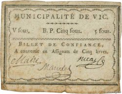 5 Sous FRANCE regionalism and miscellaneous Vic 1792 Kc.54.054d G