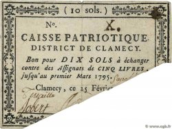 10 Sols Annulé FRANCE regionalism and miscellaneous Clamecy 1792 Kc.58.019
