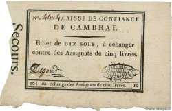 10 Sols FRANCE regionalism and miscellaneous Cambrai 1792 Kc.59.020 XF