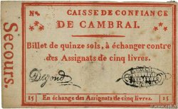 15 Sols FRANCE regionalism and miscellaneous Cambrai 1792 Kc.59.021 F+