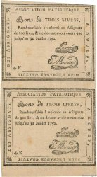 3 Livres Faux FRANCE regionalism and miscellaneous Rouen 1792 Kc.76.162