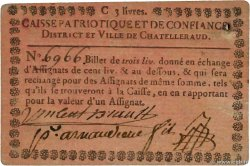 3 Livres  FRANCE regionalism and miscellaneous Chatelleraud 1792 Kc.86.005