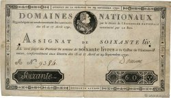 60 Livres  FRANCE  1790 Ass.05a
