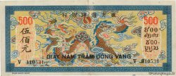 500 Piastres bleu  FRENCH INDOCHINA  1944 P.068 XF
